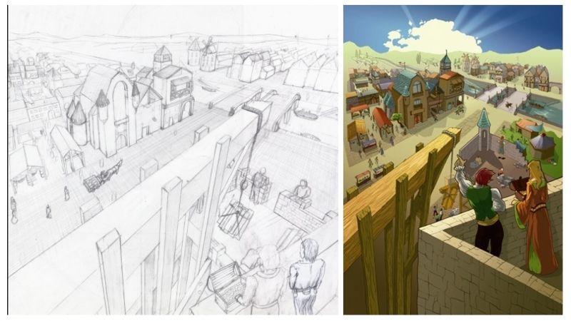 Photo de boite avant et après colorisation