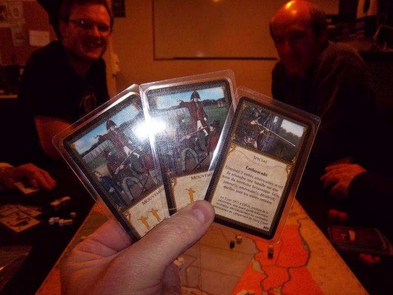 Ma première main de cartes...