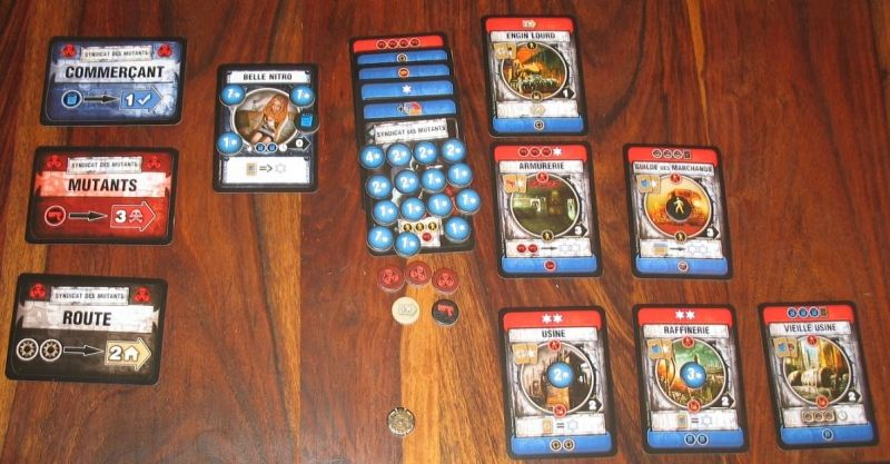 Le jeu des mutants, moins fournis en batiments mais avec pas mal d'accords.