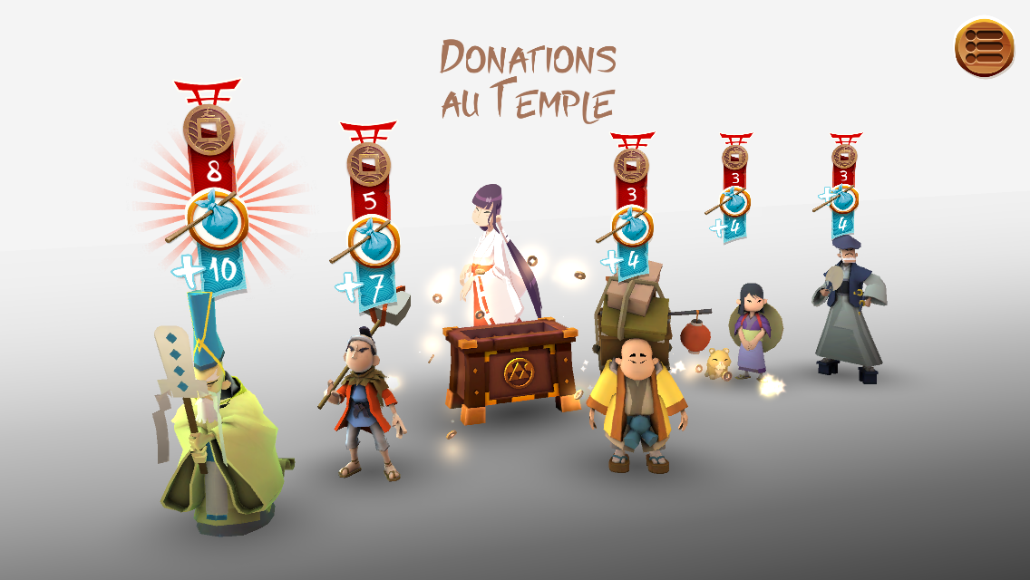 Résultat des donations au Temple