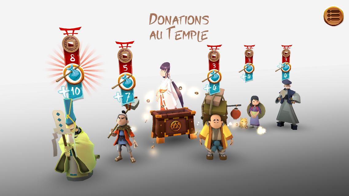 Résultat des donations au Temple