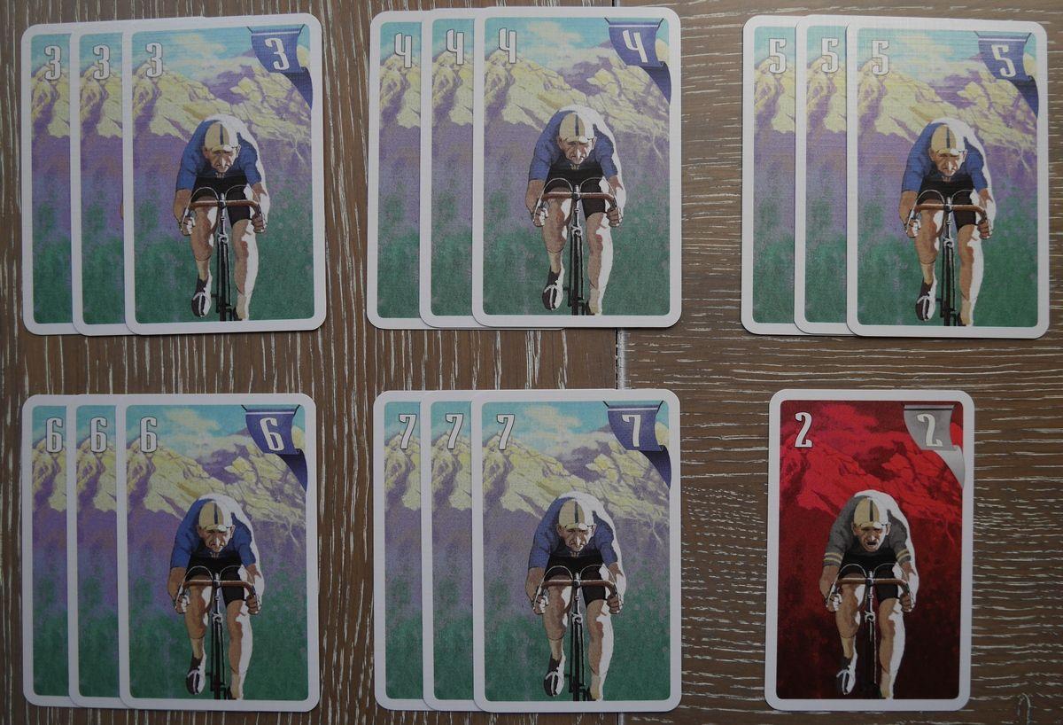 """Les 15 cartes du rouleur bleu et une carte """"fatigue"""" rouleur"""