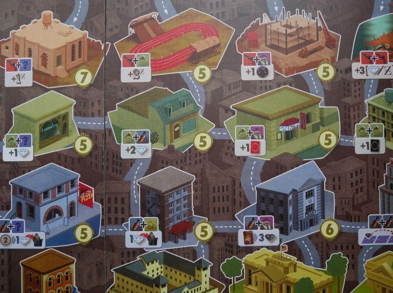 zoom sur les bâtiments de la ville