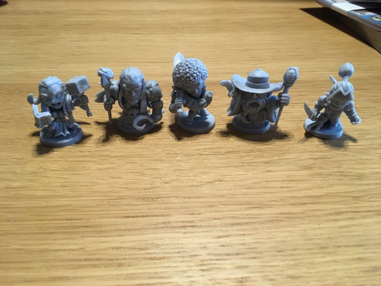 Les figurines des personnages