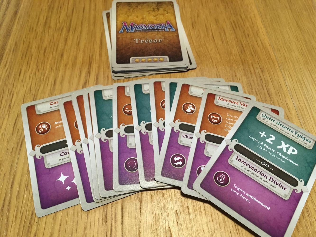 Les cartes trésors