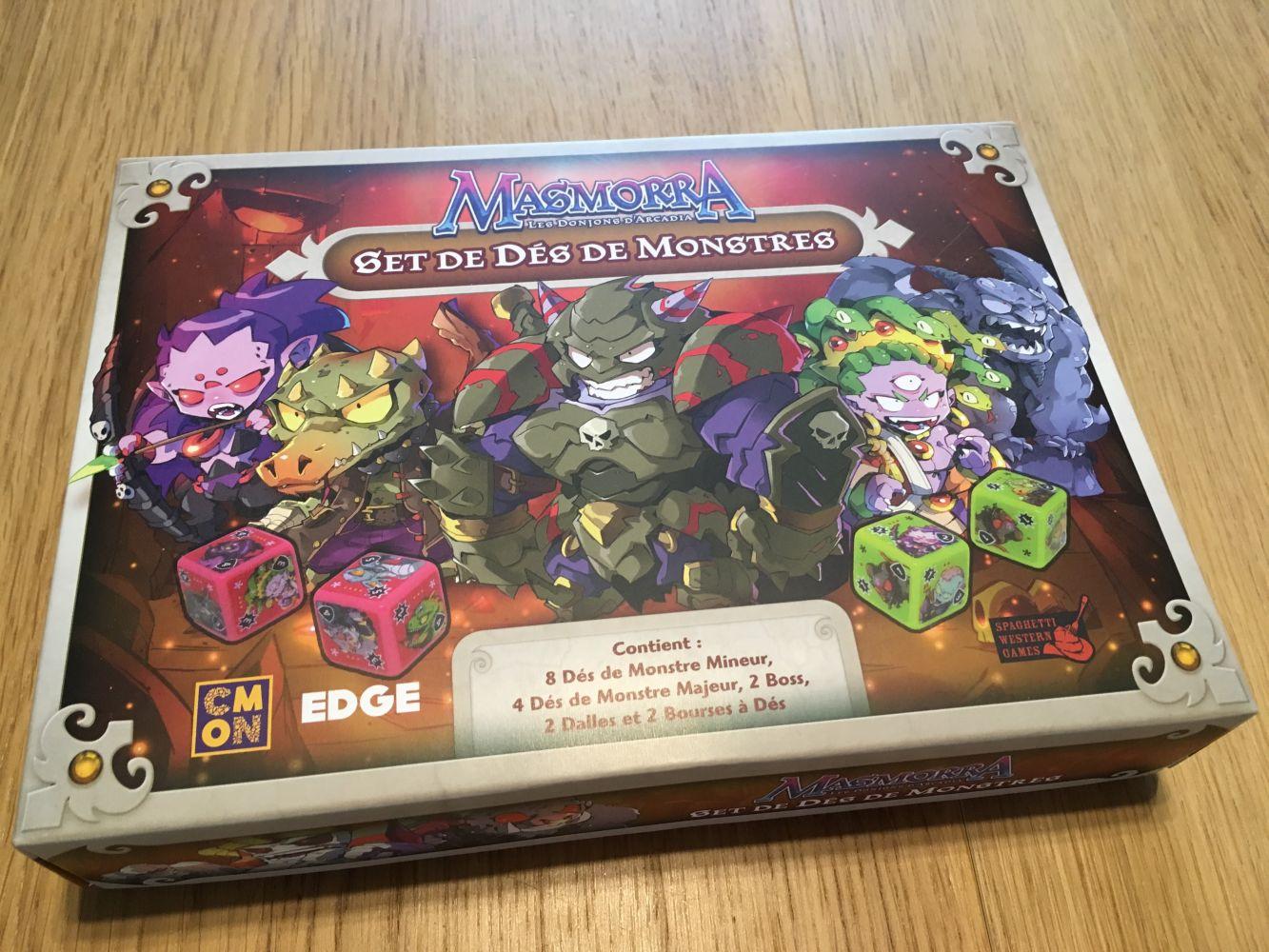 La boite du set de monstres pour Masmorra