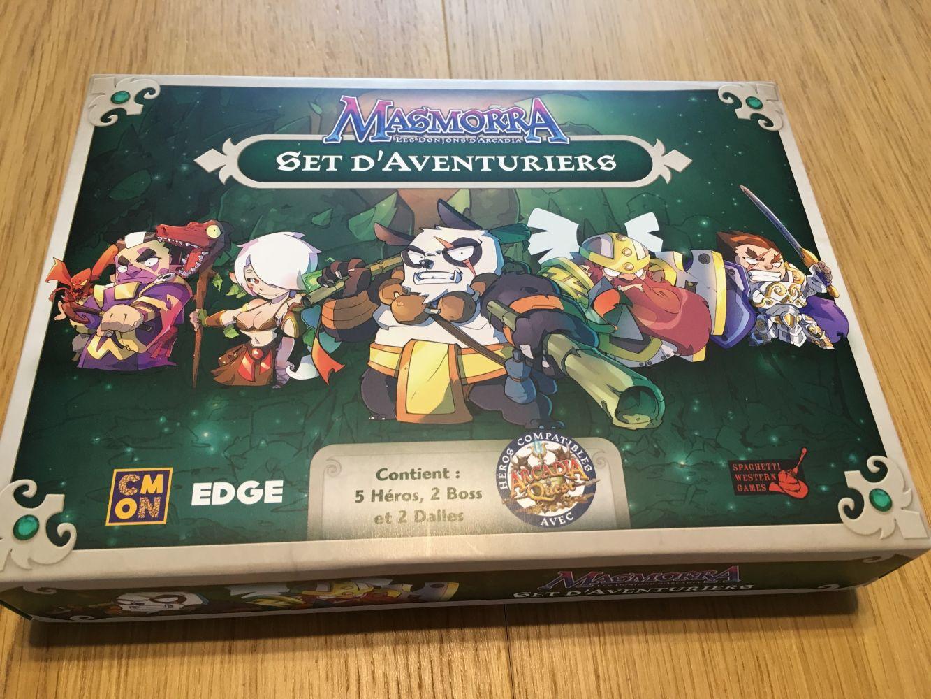 La boite du set d'Aventuriers pour Masmorra