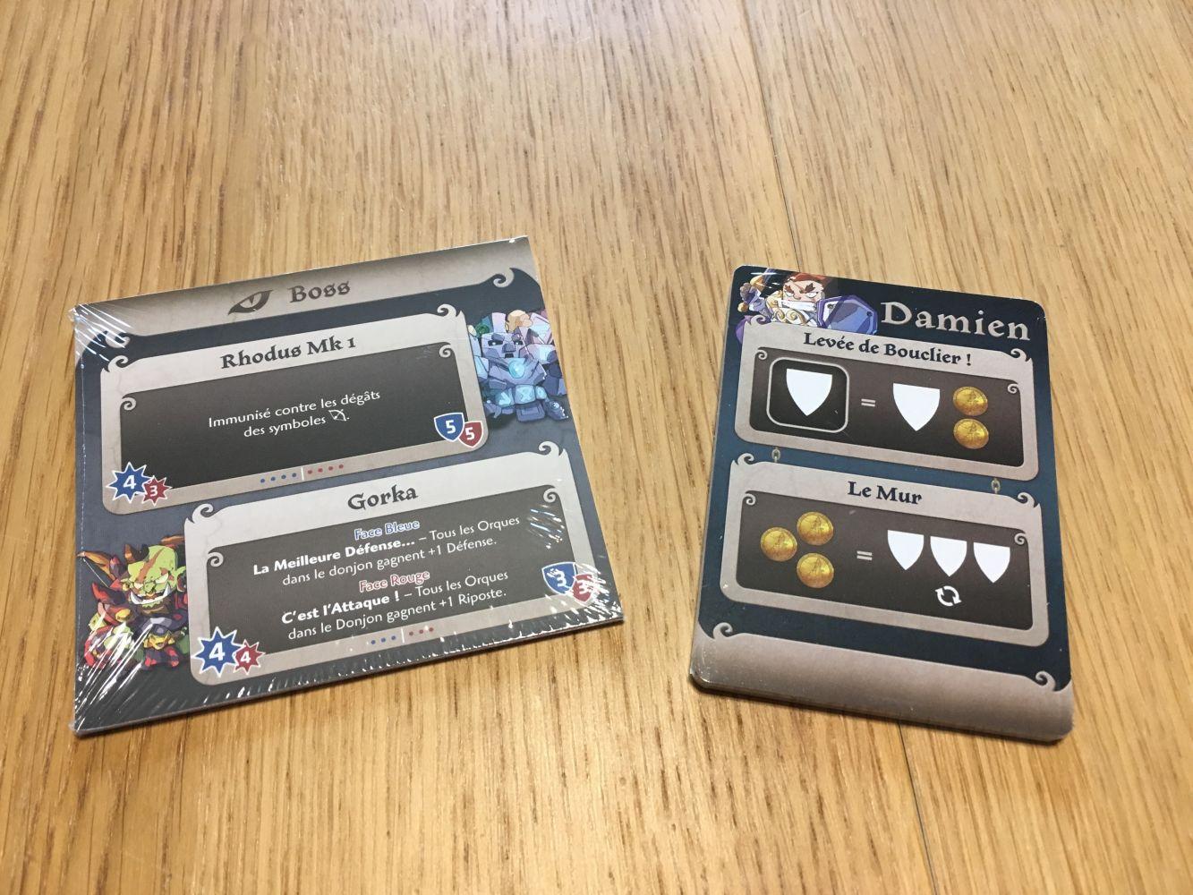 Les aides de jeu, les cartes compétences et les cartes pour Arcadia Quest