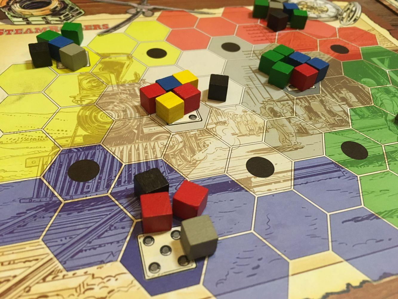 Le plateau central et les marchandises à livrer