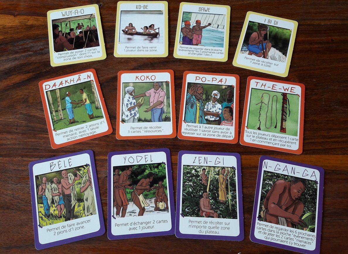 Chaque peuple possède 4 cartes uniques avec son bonus unique