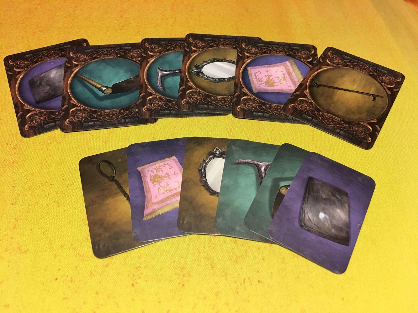 Les cartes objets pour les médiums et le fantôme