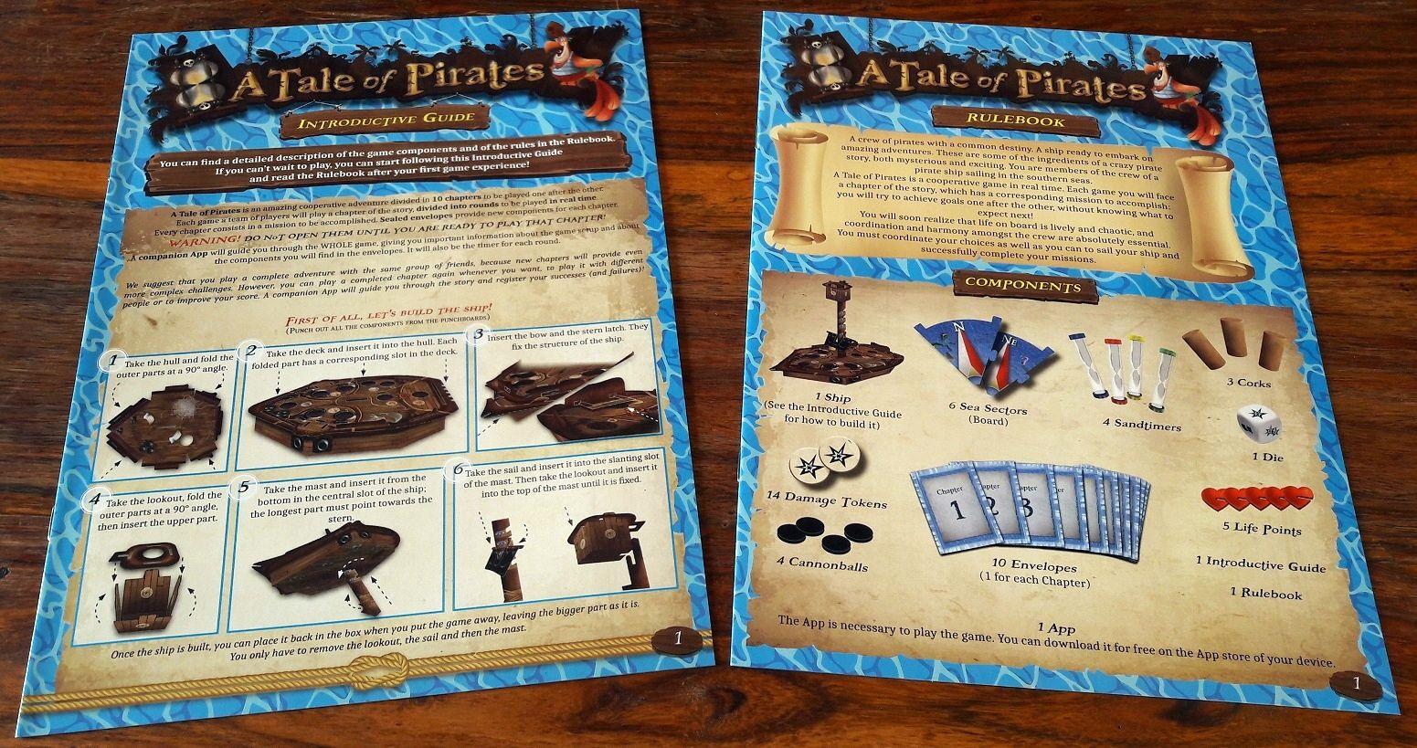 2 feuillets de règles : un pour commencer très rapidement, un plus complet expliquant les différentes actions et le déroulement du jeu.