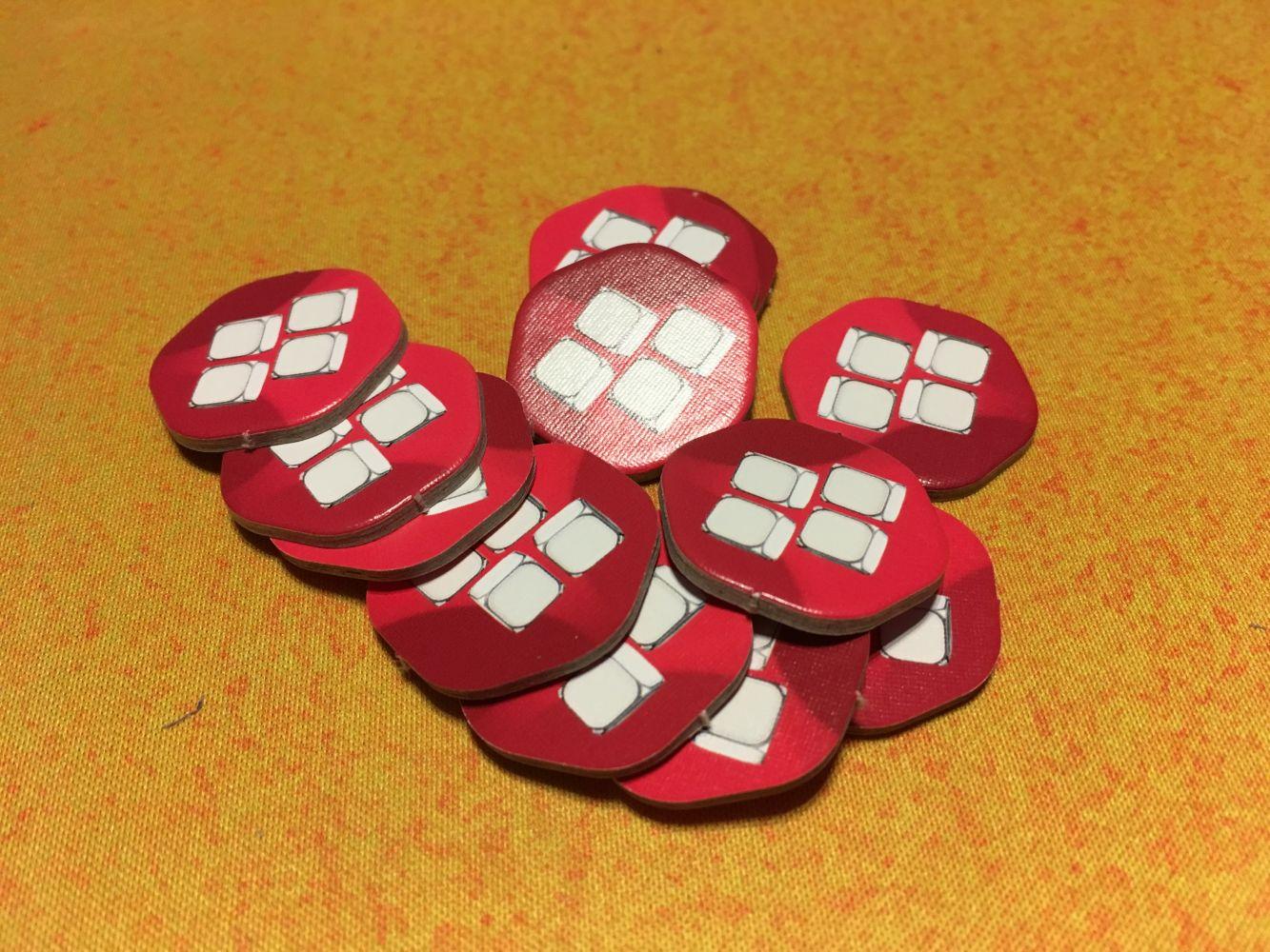 """Les tokens """"4 cubes"""""""