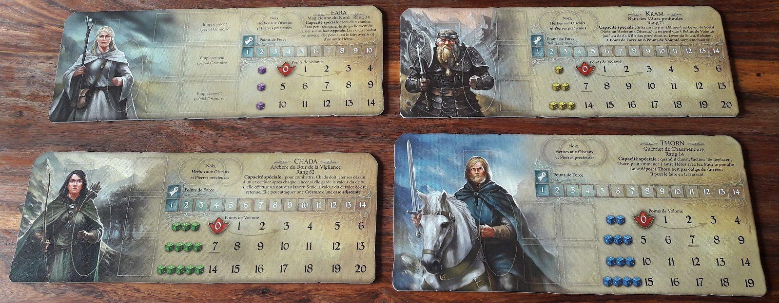 On retrouve nos 4 héros habituels : le guerrier, l'archer, le nain et le sorcier (évidemment disponibles en version masculine et féminine).