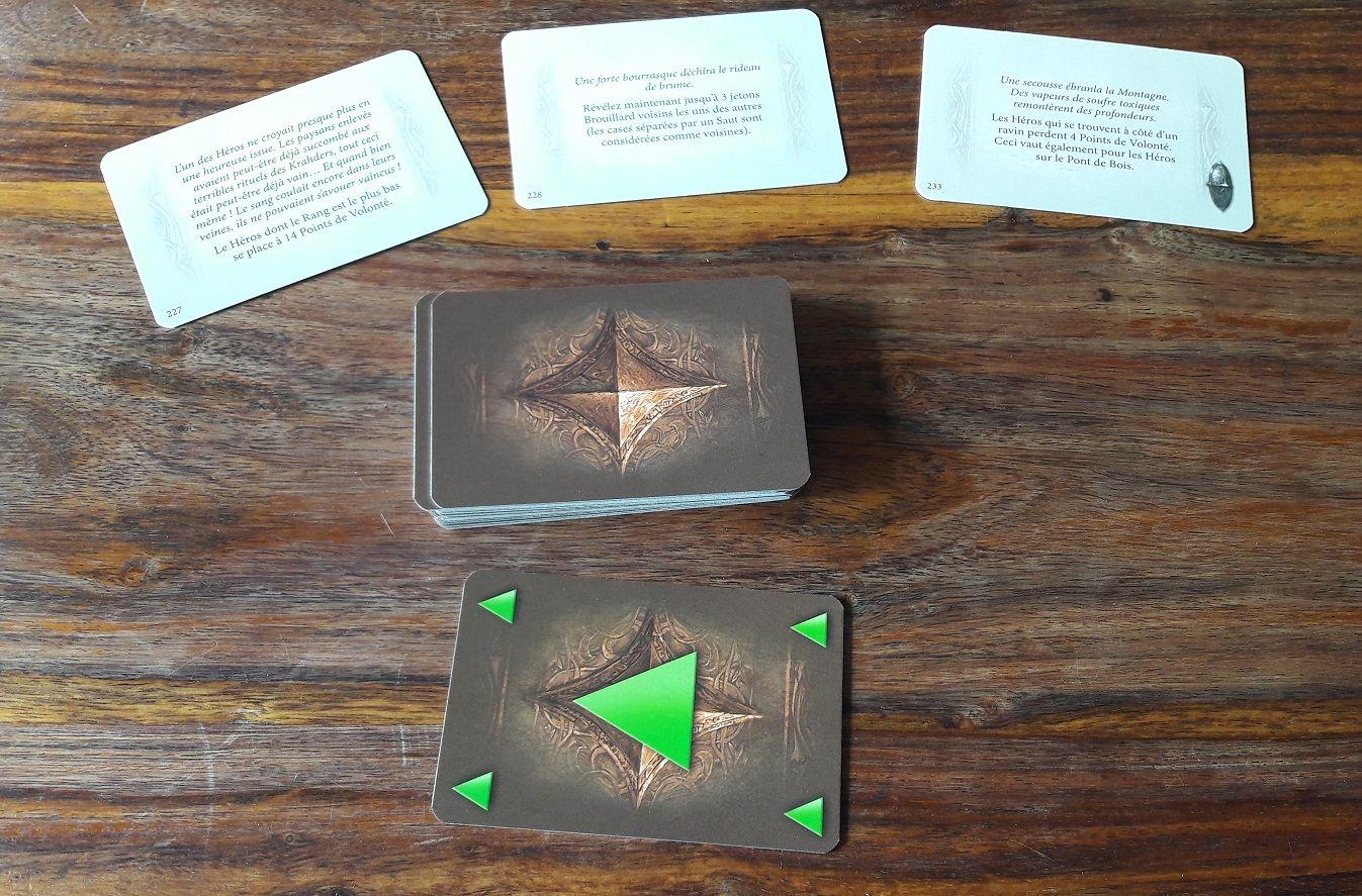 Comme dans le jeu de base on retrouve des cartes événements aléatoires.