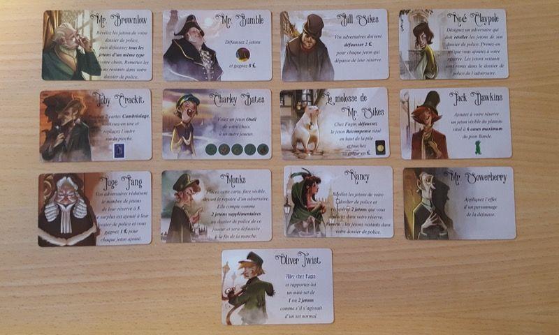 Les 13 cartes Personnage