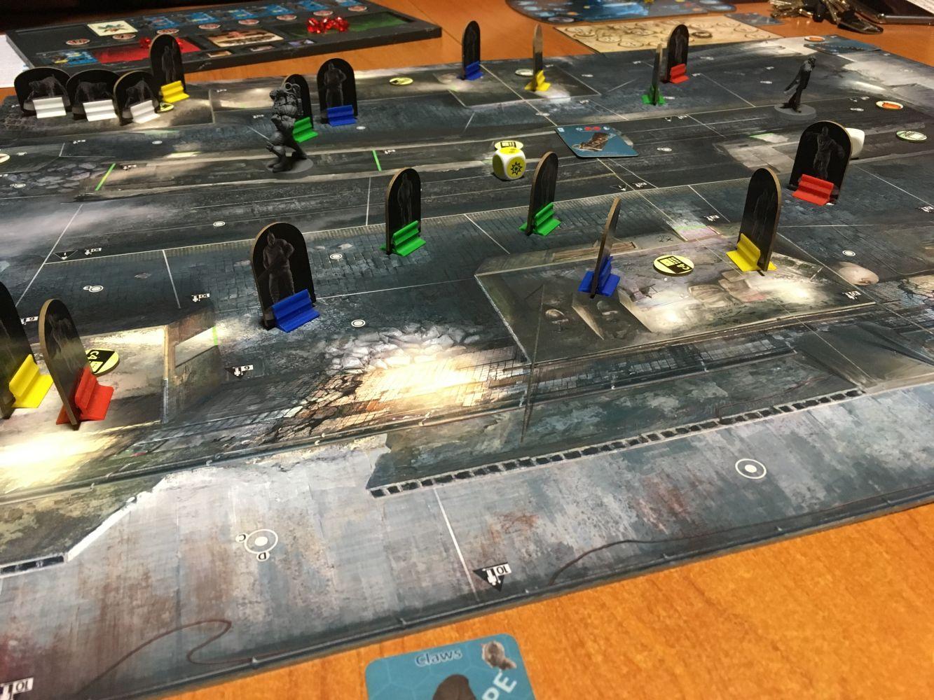 Le plateau de jeu du prototype