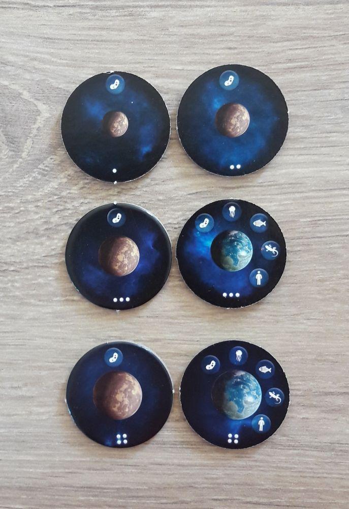 Les planètes  telluriques.