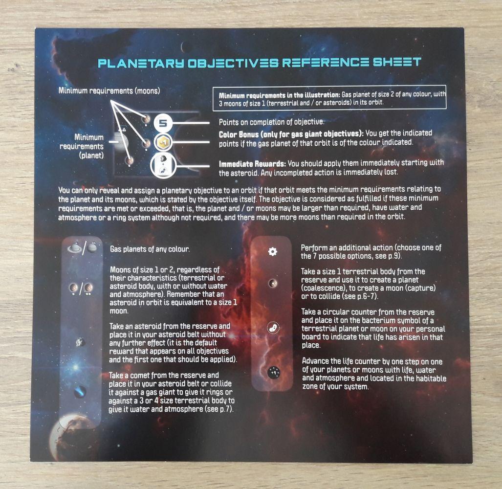détails sur les objectifs planétaires