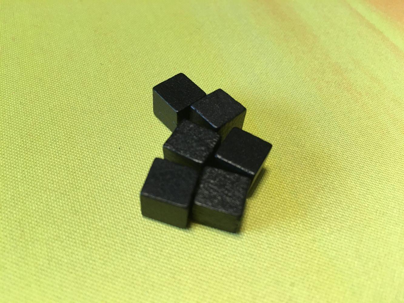 Les cubes de charbon