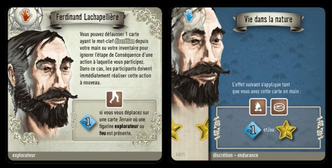 Un personnage avec une de ses cartes spécifiques