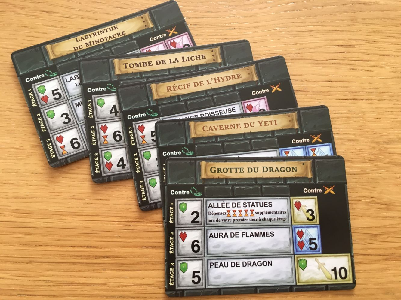 Les cartes dungeon