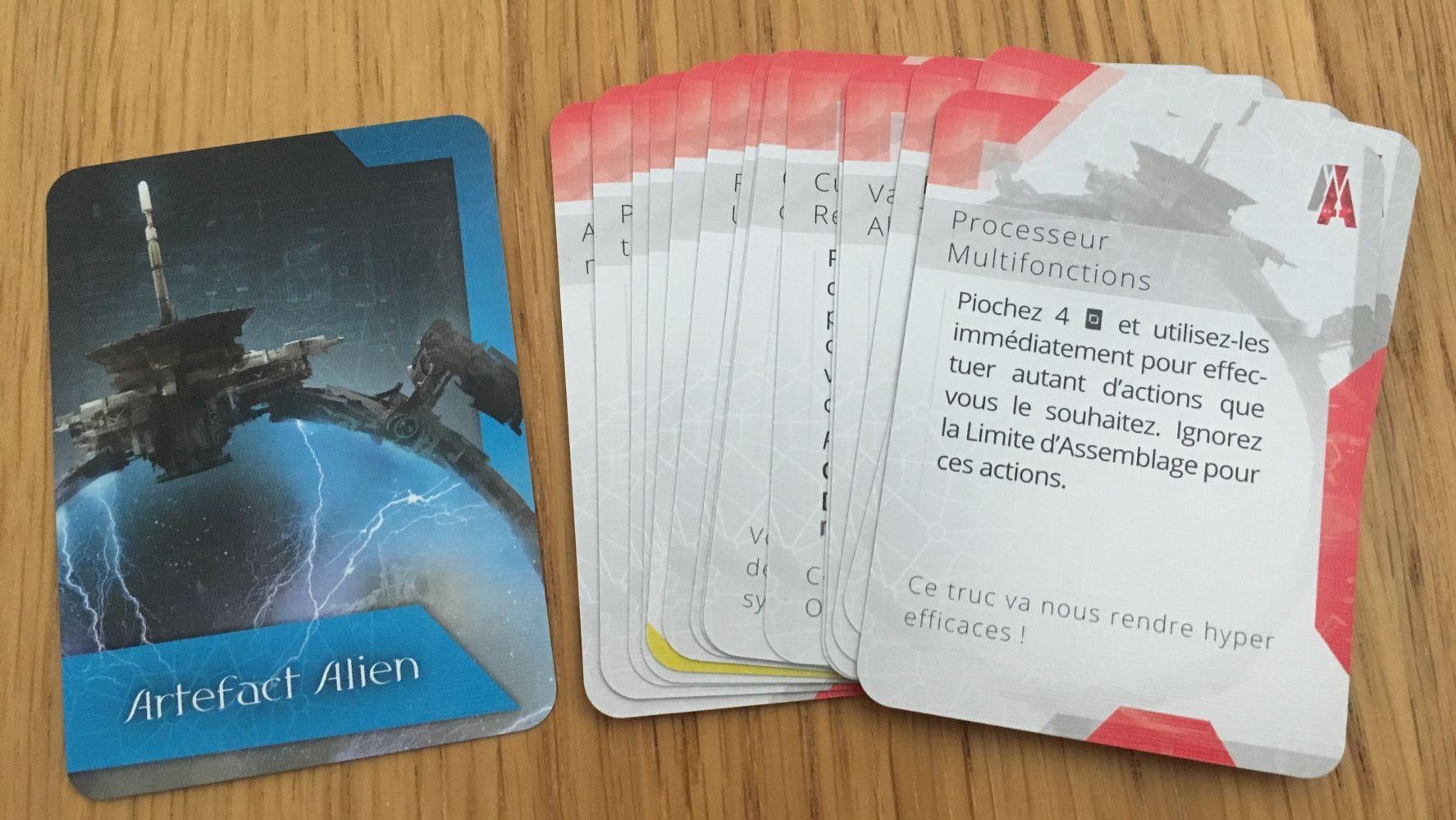 Les cartes Artefact Alien
