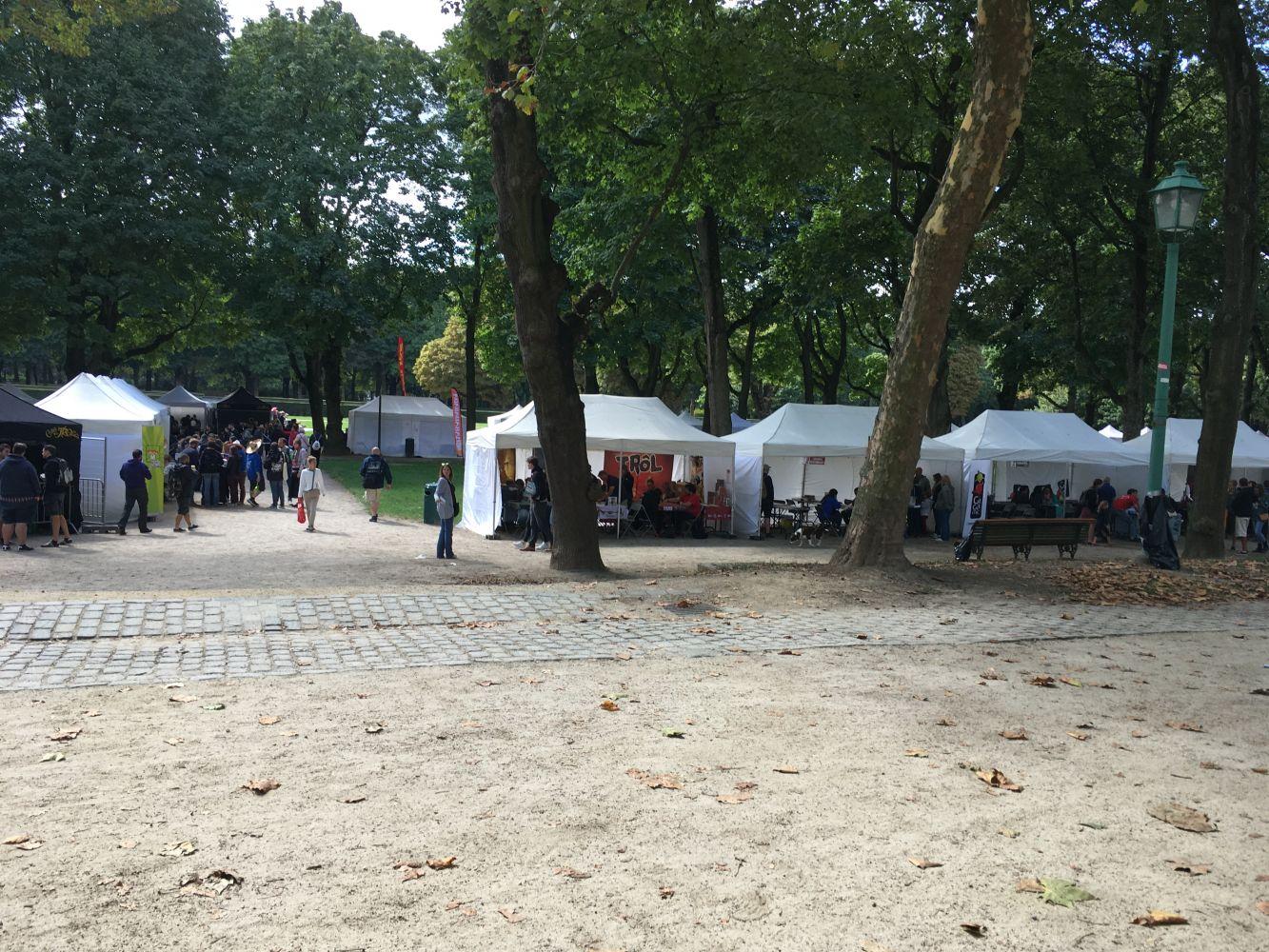 Le Festival installé dans le Parc du Cinquantenaire