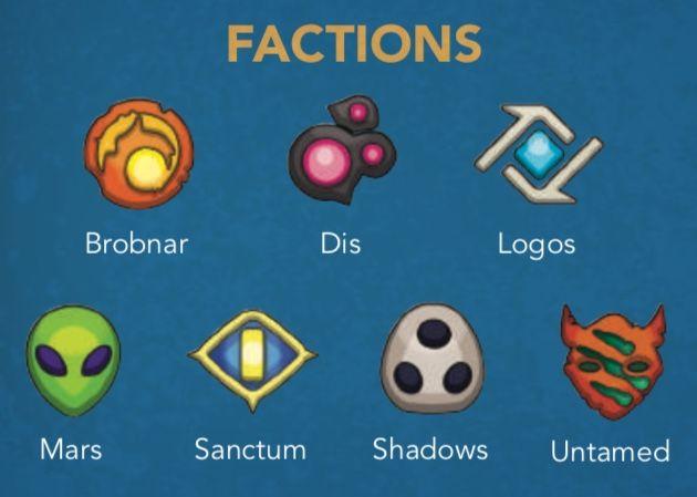 Les différentes factions