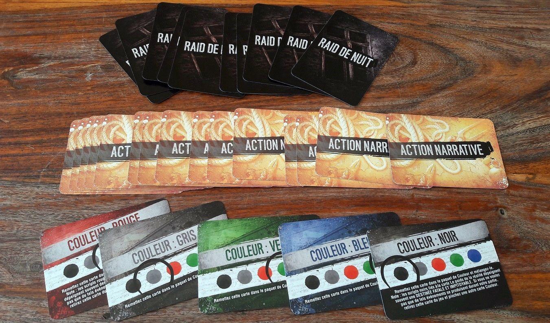 Ici les cartes raid de nuit, action narrative et couleur.