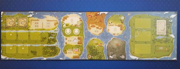 La plateau face 2 joueurs représentant 7 îles