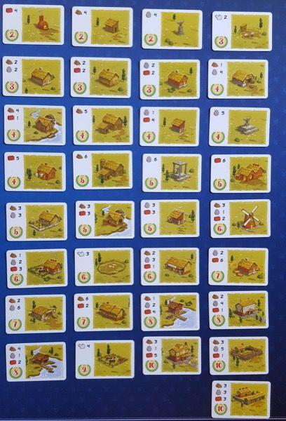 Les 33 cartes bâtiment