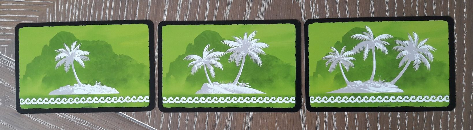 Le dos des cartes île ... 1 palmier par niveau
