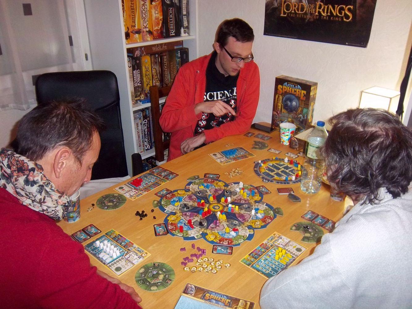 La troisième partie (celle des scores) d' Aquasphère, configuration 4 joueurs..