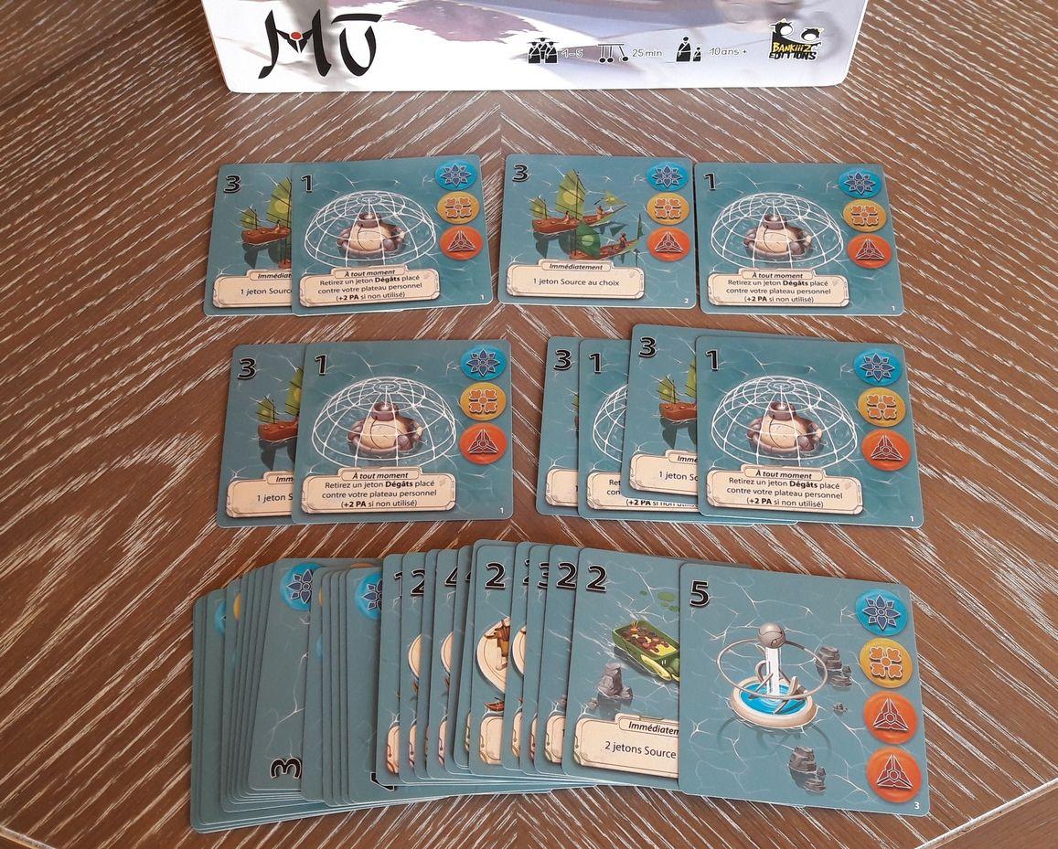 Les cartes projets.  Chaque joueur démarre la partie avec 2 projets identiques et les 3 de la phase de  draft.