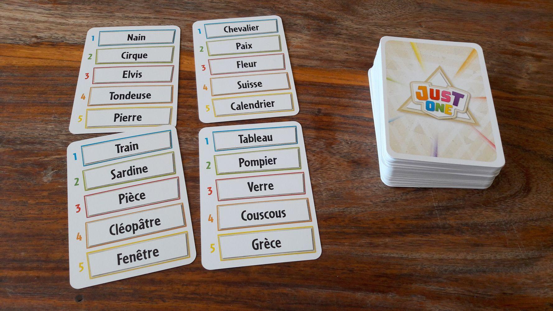 5 mots par carte : simple et pratique !