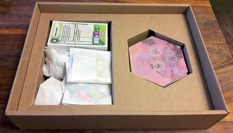 Tout possède  bien une place, on sera même un peu surpris de la facilité d'usage des sachets en  papier une fois bien calés.
