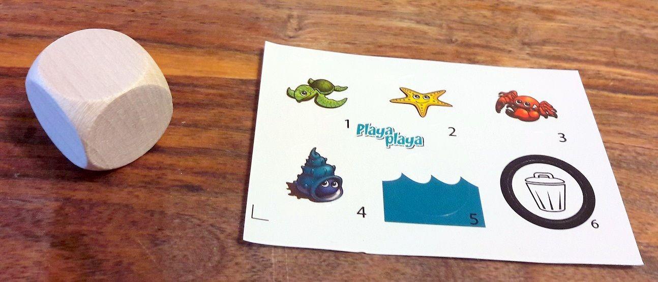 6 stickers à coller sur les 6 faces du superbe dé en bois.