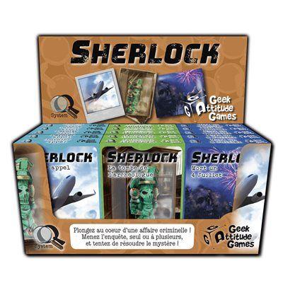 Les 3 premiers titres de la série Sherlock