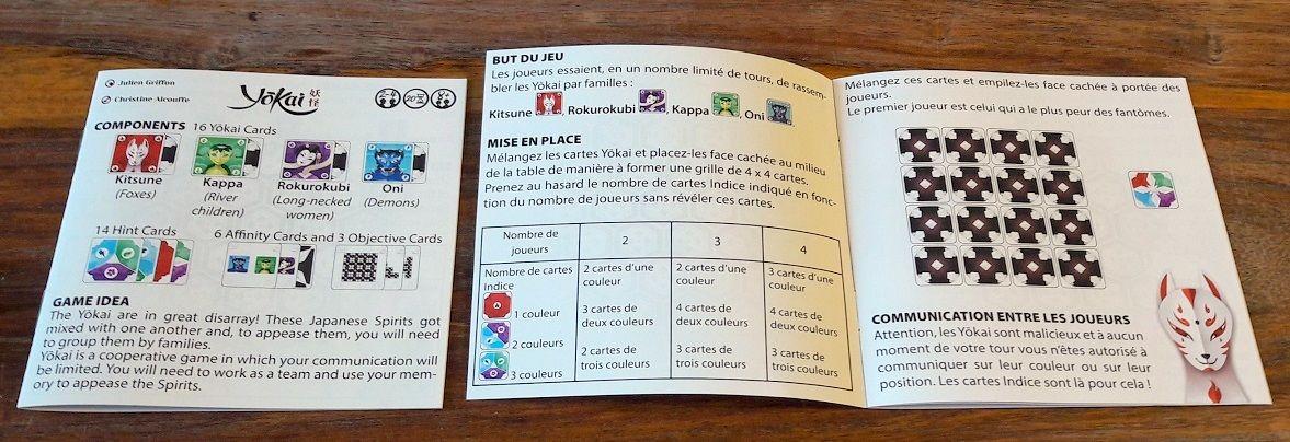 2 livrets de règles dans la boite : VF et anglais, pratique vu que c'est le seul texte du jeu !