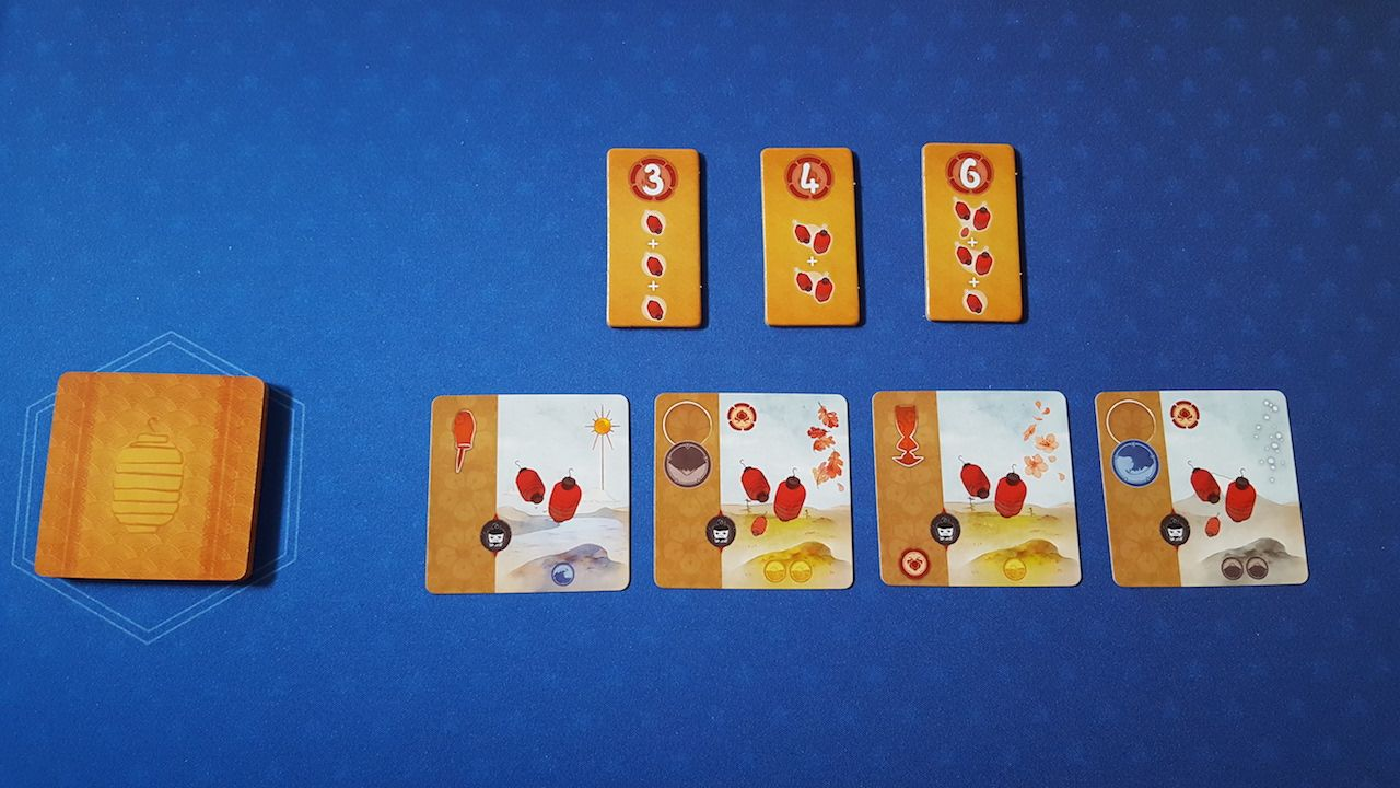 18 cartes au dos orange
