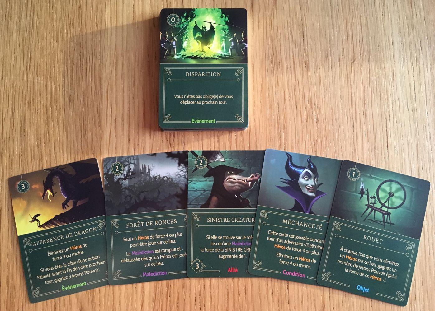 Les cartes Méchants de Maléfique