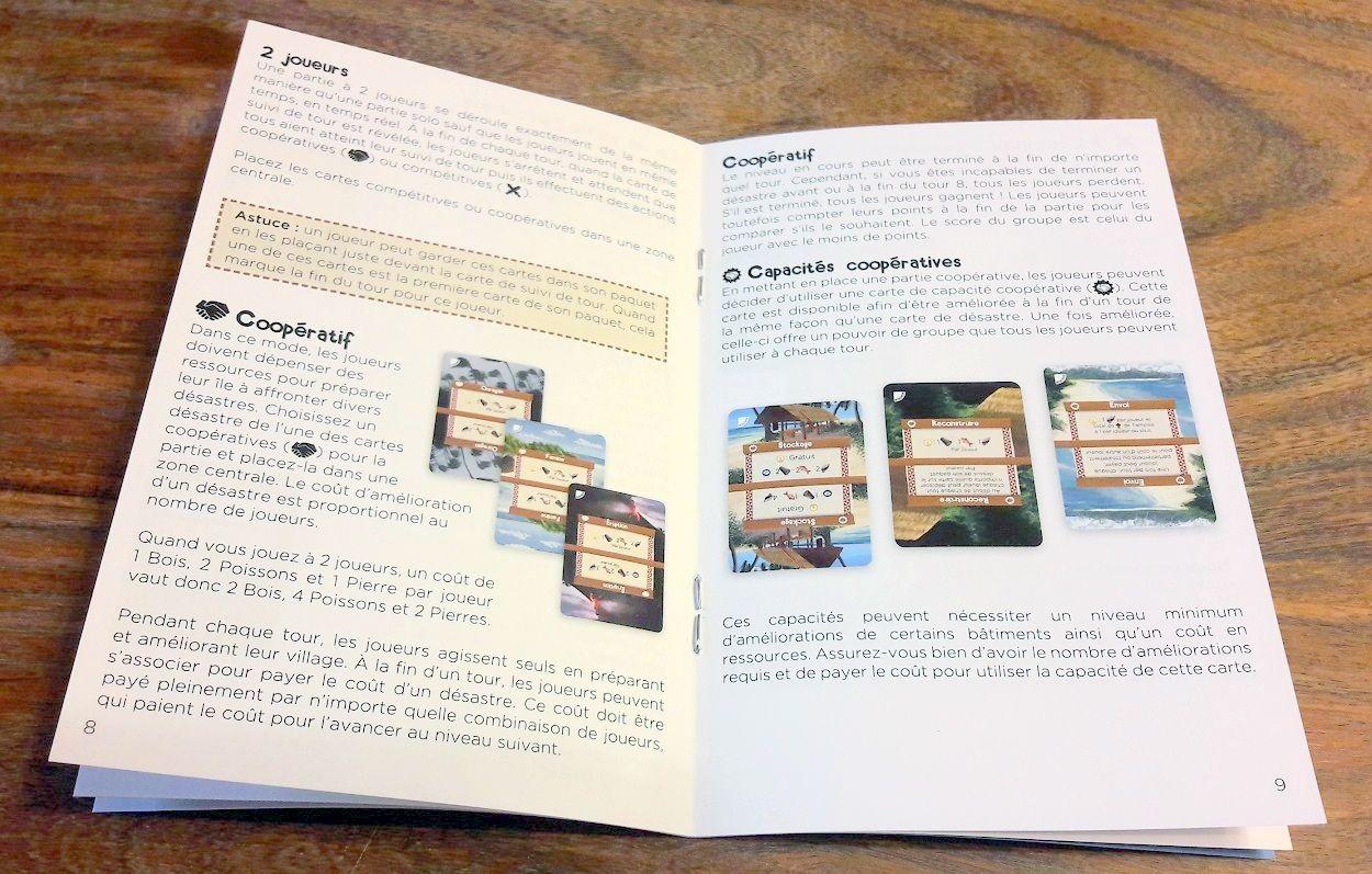 Un beau livret de règles bien illustré proposant les différents modes de jeux.
