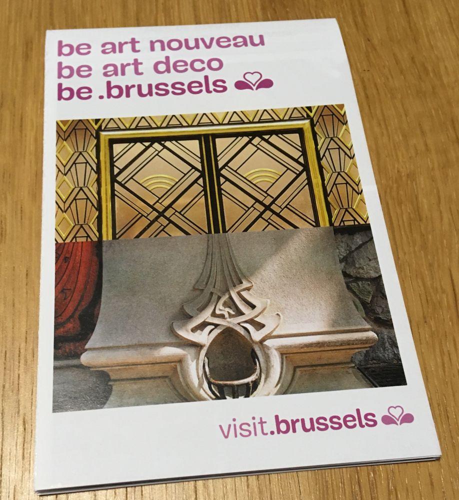 Un livret touristique de Bruxelles et l'Art Nouveau