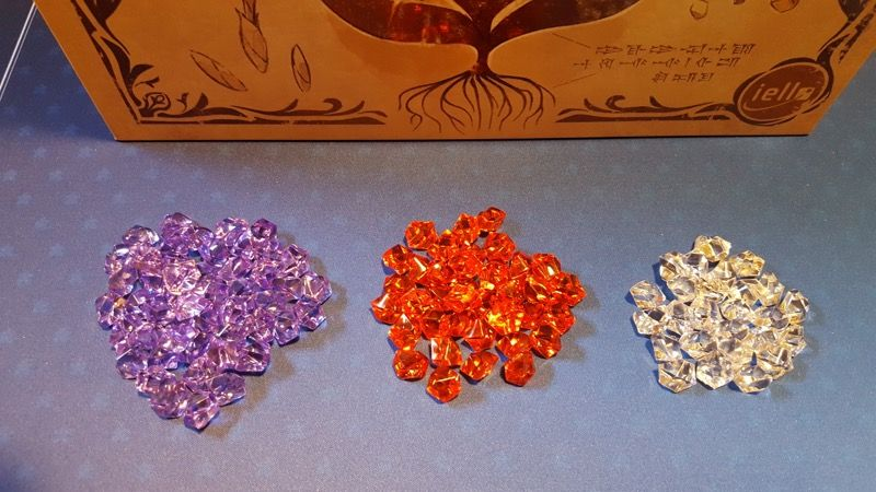 Elles sont rangées par rareté de la plus courante (violette) à la plus rare (blanche)