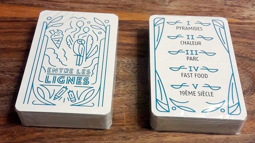Deux beaux paquets de cartes (encore sous leur film) pour une très grande diversité de mots.