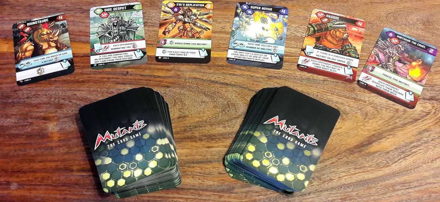 Un bon paquet (voir 2) de cartes qui seront le cœur du jeu.