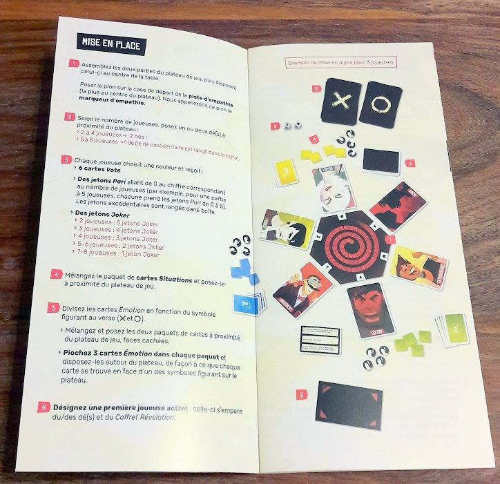 Un tout petit livret de règles  amplement suffisant pour bien illustrer les règles du jeu.