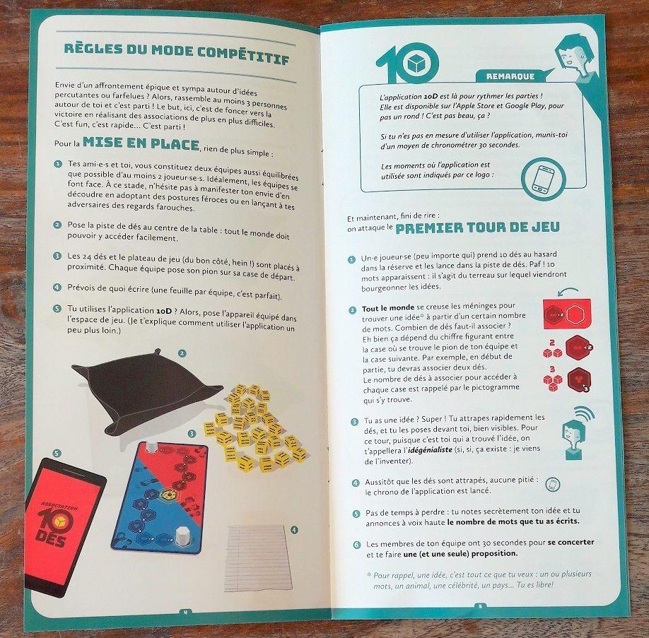 6 pages bien illustrées pour 2 modes de jeux : coopératif ou en équipe.