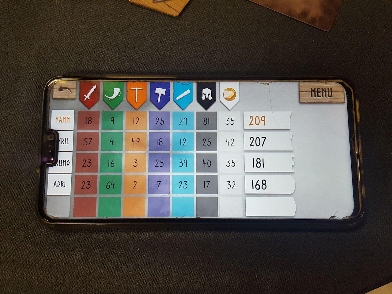 Une super application pour Smartphone qui compte les points pour vous. Merci Nicolas Normandon !
